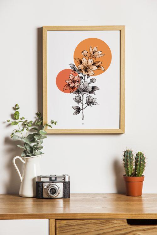 affiche florale